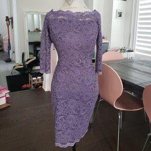 Le Chateau Purple Lace Dress